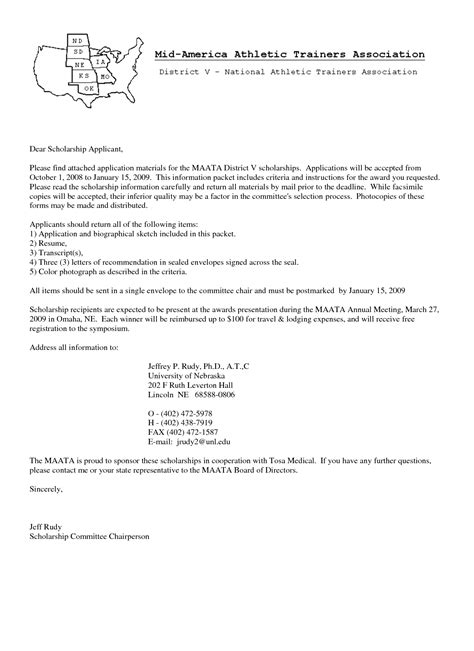 Sample Athletic Scholarship Cover Letter Earlier Intersectionsga